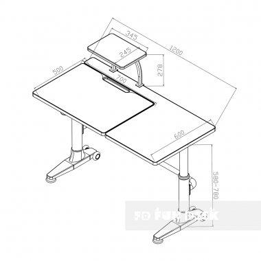 Комплект подростковая парта для школы Ballare Blue + ортопедическое кресло Bello II FunDesk