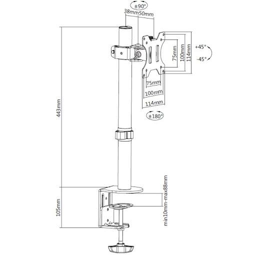 Кронштейн ITECHmount MBES-01F
