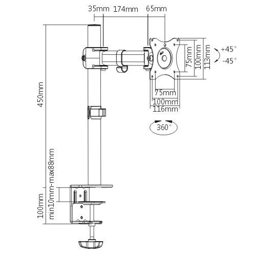 Кронштейн ITECHmount MBS-02F