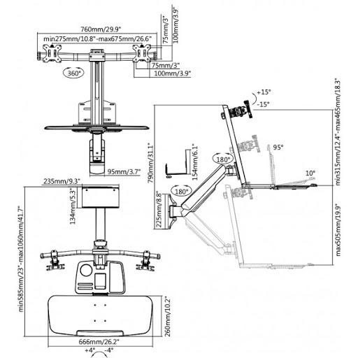 Кронштейн ITECHmount DWS02-W02