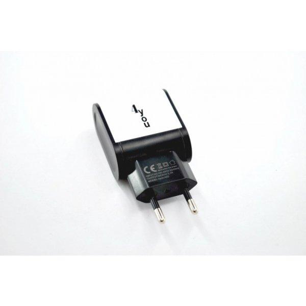 Зарядное устройство 4you A22 (2100mAh - 100%, 2 USB, Led подсветка, Exclusive design) black/white