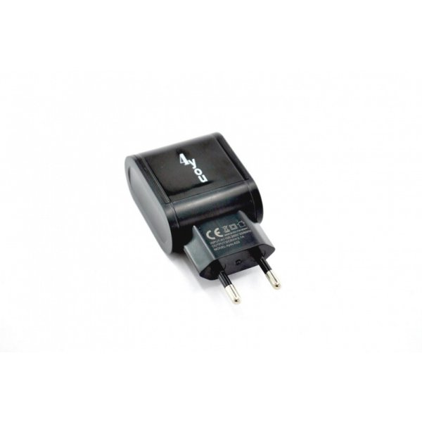 Зарядное устройство 4you A22 (2100mAh - 100%, 2 USB, Led подсветка, Exclusive design) black
