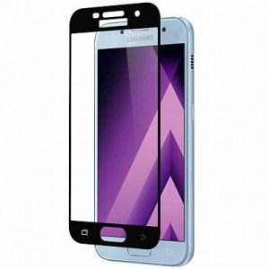 Защитное стекло 2D Samsung A720 Black