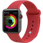 Ремешок UWatch Silicone Strap for Apple Watch 42/44 mm Red