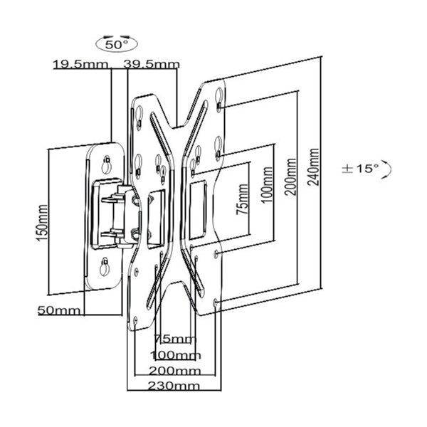 Кронштейн iTech LCD-421.W