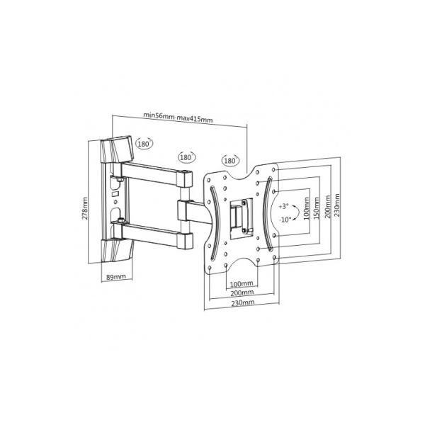 Кронштейн Brateck KLA27-223