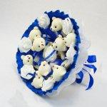 Букет из игрушек Мишки 9 синий 5339IT
