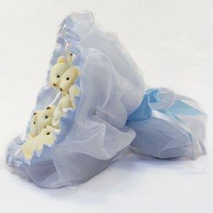 Букет из игрушек Мишки 9 голубой 5350IT