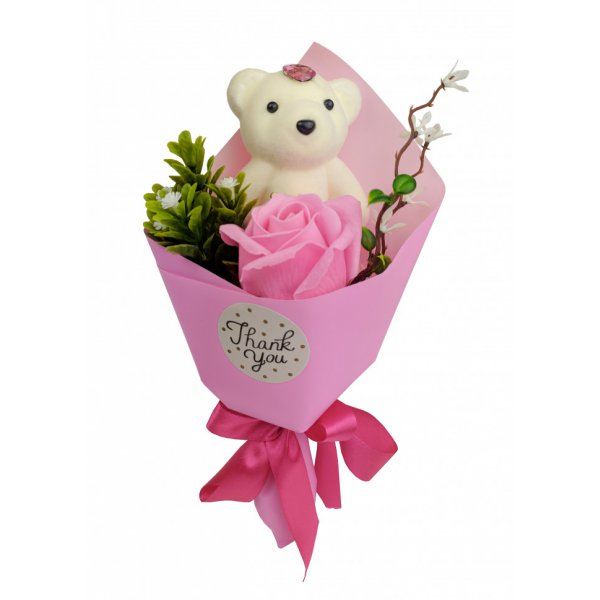 Аксессуары для праздника MK 3323 цветы,букет (MK 3323(Pink))