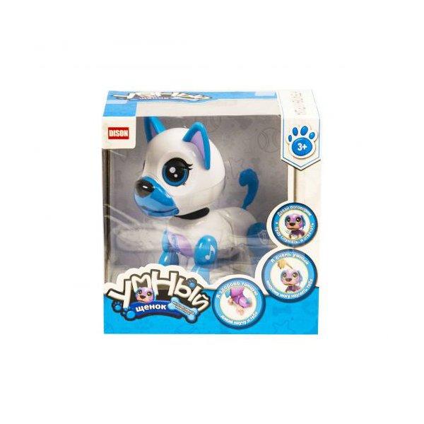 """Интерактивная игрушка """"Умный щенок"""" (бело-голубой)"""