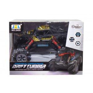 """Машинка на радиоуправлении """"Drift Climber"""" роликовых колеса (черная)"""