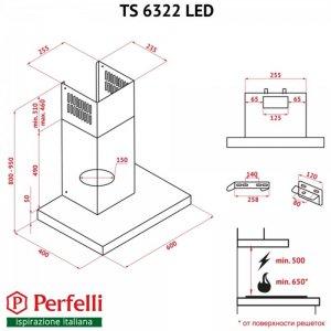 Вытяжка Perfelli TS 6322 I/BL