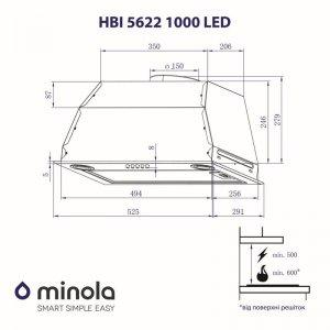 Вытяжка Minola HBI 5622 BL 1000 LED