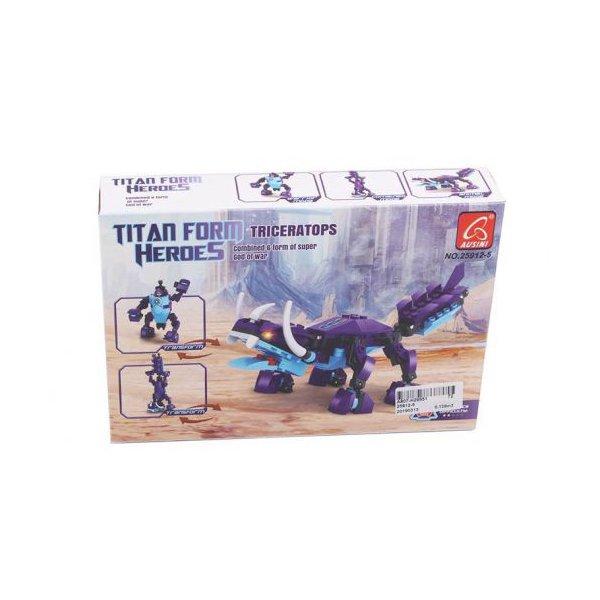 """Конструктор """"Робот-динозавр: Трицератопс"""", 118 деталей"""