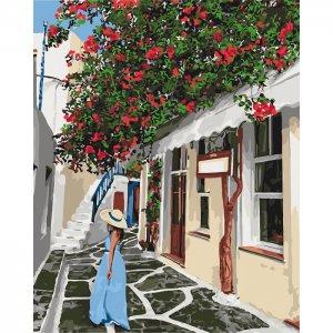 """Картина по номерам. """"Уютными улочками"""" KHO2263"""