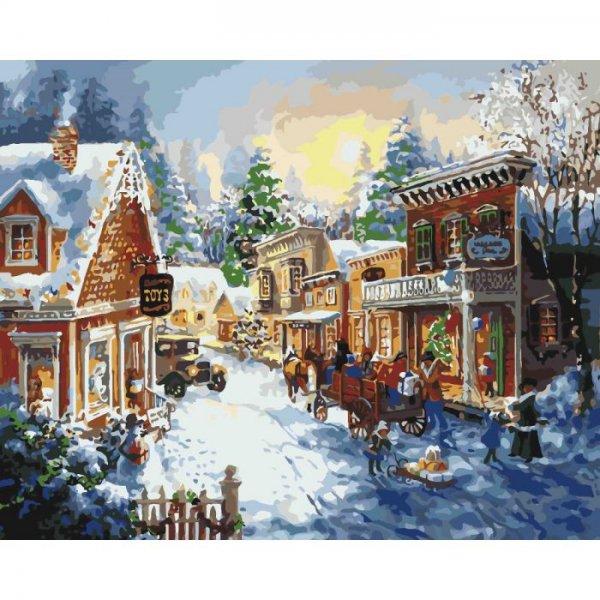 """Картина по номерам """"Накануне рождества"""" KHO2247"""