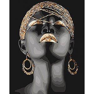 """Картина по номерам. Люди """"Африканская принцесса"""" 40*50см KHO4559"""