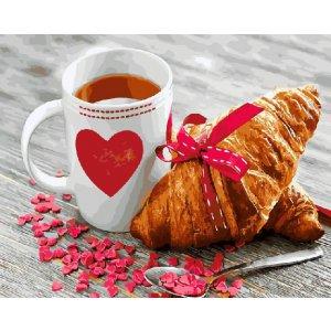 "Картина по номерам. Brushme "" Завтрак с любовью GX21709"