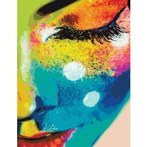 "Картина по номерам. Brushme "" Женщина в красках GX21715"