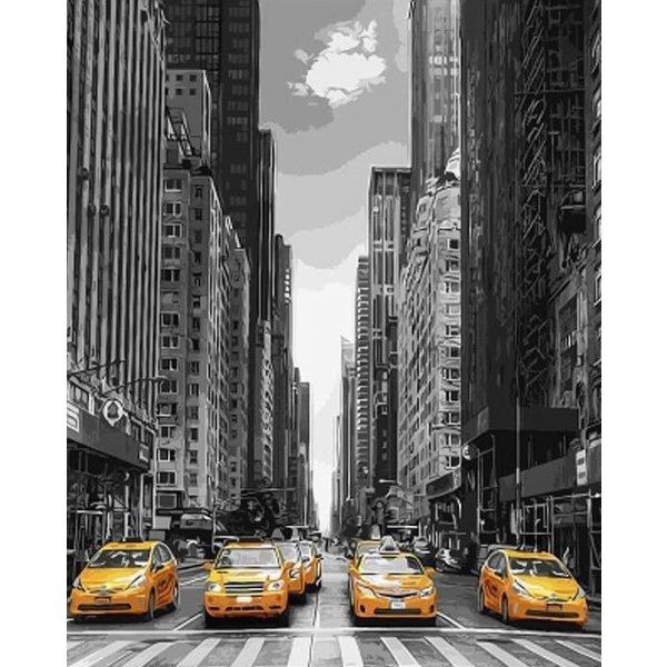 """Картина по номерам. Brushme """"Такси Нью-Йорка"""" GX9386"""