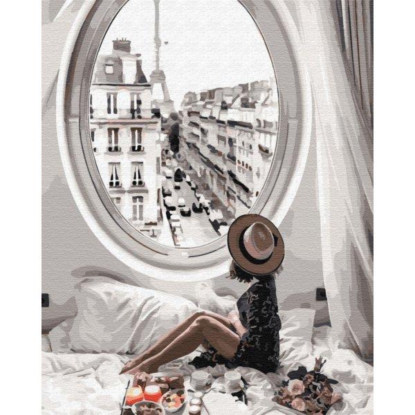 "Картина по номерам. Brushme ""Лучшее утро в Париже"" GX34175"