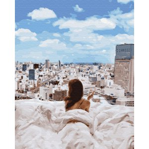 "Картина по номерам. Brushme ""Утро в большом городе"" GX34136"