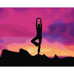 """Картина по номерам. Brushme """"Асана йоги"""" GX34817"""