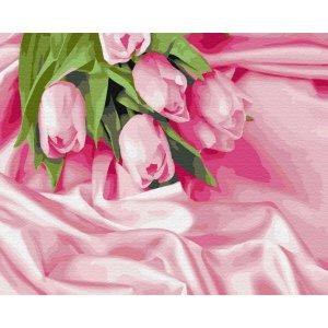 "Картина по номерам. Brushme ""Тюльпаны в шелке"" GX34760"
