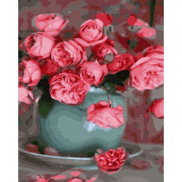 """Картина по номерам. Brushme """"Чайные розы"""" GX34838"""