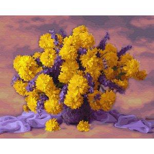 "Картина по номерам. Brushme ""Букет желтых хризантем"" GX34028"