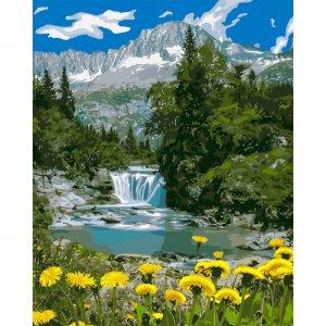 """Картина по номерах. """"Горный водопад"""" 40*50см KHO2283"""