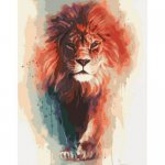 """Картина по номерам """"Благородный король"""" ★★★"""