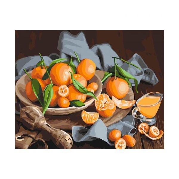 """Картина по номерам """"Оранжевое наслаждение"""" ★★★"""