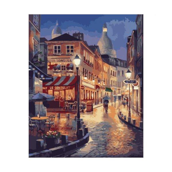 """Картина по номерам """"Прогулка вечернему Парижу"""" ★★★★"""