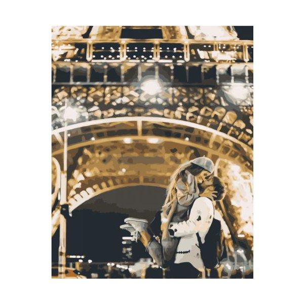 """Картина по номерам """"Поцелуй в Париже"""" ★★★★"""