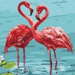 "Картина по номерам ""Яркие фламинго"" ★★★★"