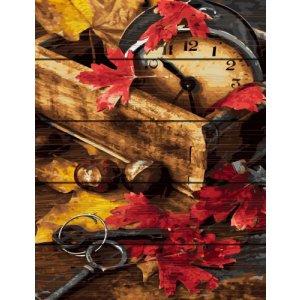 """Картина по номерам на дереве """"Осенняя композиция"""""""