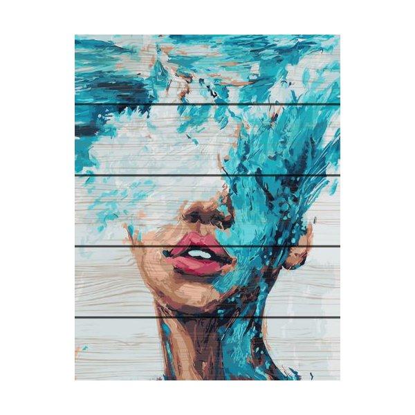 """Картина по номерам на дереве """"Океания"""""""