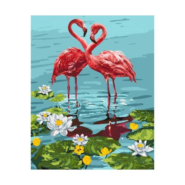 "Картина по номерам ""Пара фламинго"""