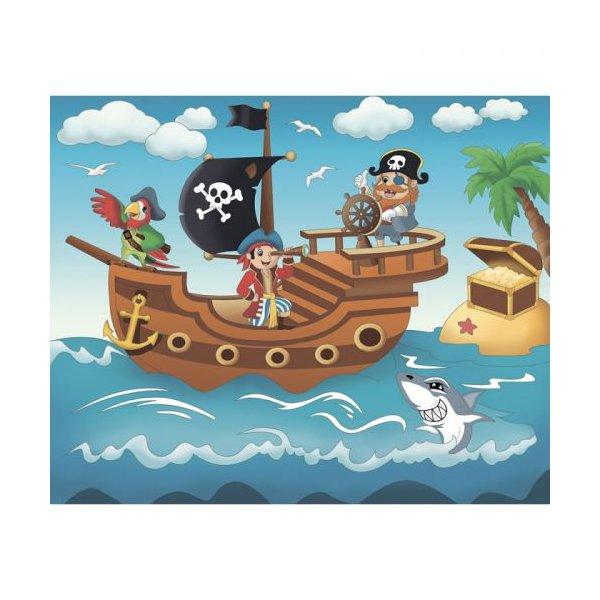 """Роспись по холсту """"Пиратское приключение"""""""