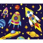 """Роспись по холсту """"Space rockets"""""""