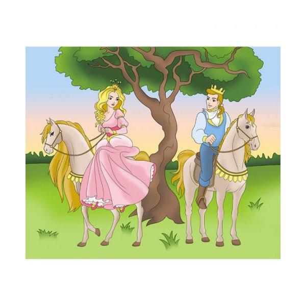 """Роспись по холсту """"Принц и принцесса"""""""
