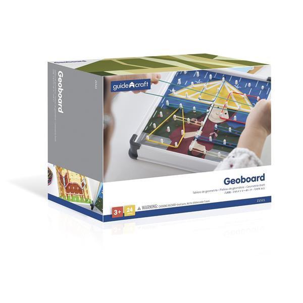 Логическая игра с резинками Guidecraft Геоборд, 20 шаблонов (Z1521)