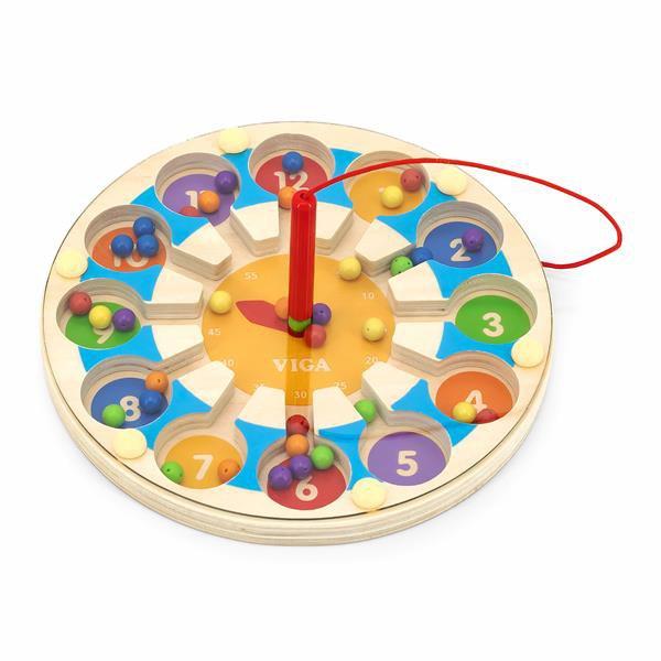 Магнитный лабиринт Viga Toys Часы (44560)