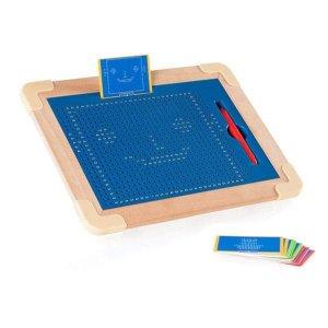 Магнитный планшет Guidecraft Manipulatives для рисования, с шаблонами и ручкой (G99971)