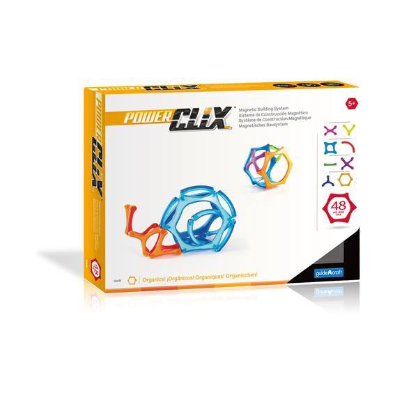Магнитный конструктор Guidecraft PowerClix Organics, 48 деталей (G9431)