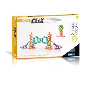 Магнитный конструктор Guidecraft PowerClix Organics, 100 деталей (G9433)