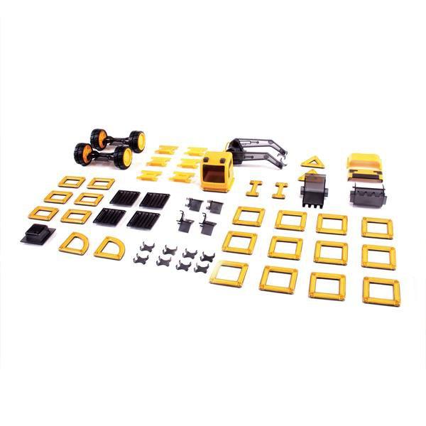 Магнитный конструктор Guidecraft PowerClix Строительная техника, 55 деталей (G9460)
