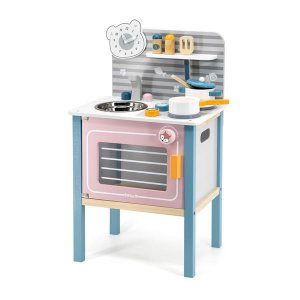 Детская кухня Viga Toys PolarB из дерева с посудой (44027)