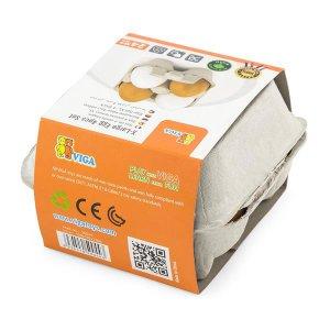 Игрушечные продукты Viga Toys Деревянные яйца в лотке, 4 шт. (50044)